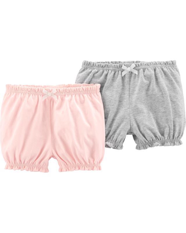 Nohavice krátke - ružová-sivá 2ks,  9m