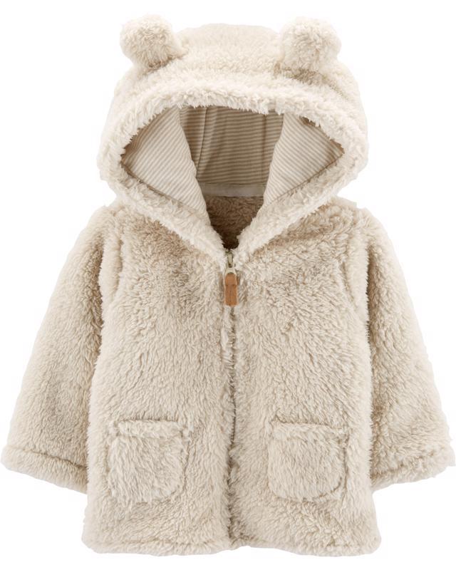 Kabátik s kapucňou - béžový, 6m