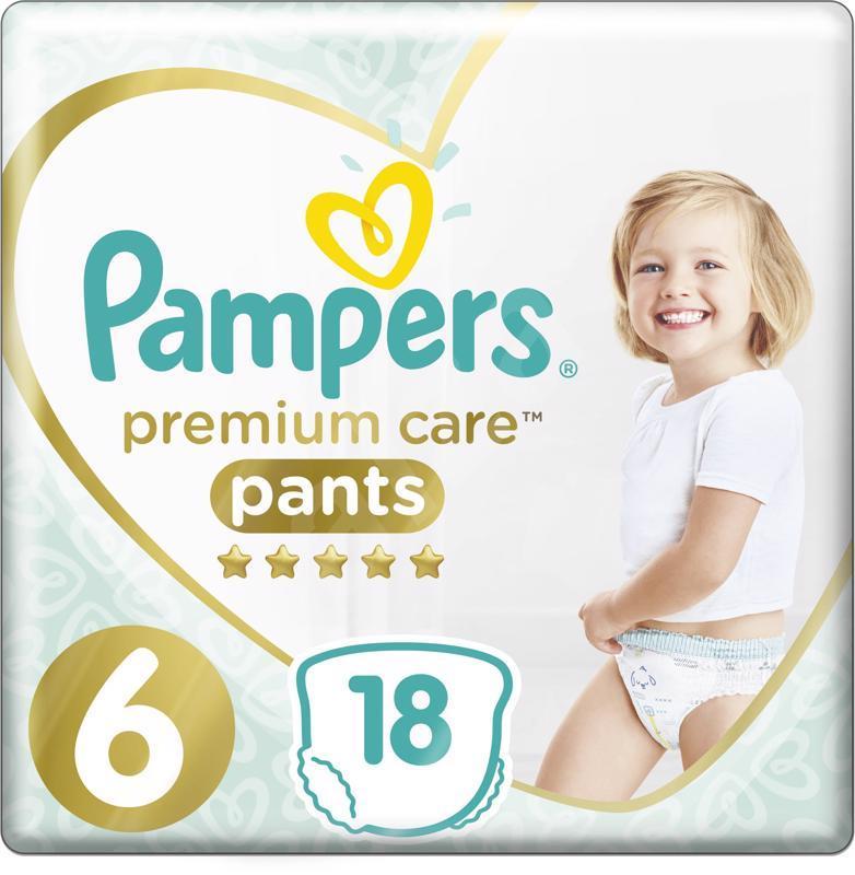Kalhotky plenkové Premium Care Pants 6 EXTRA LARGE 16kg+ 18ks Pampers