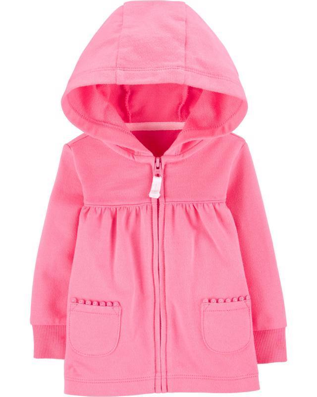 Mikina na zips s kapucňou Pink dievča 18m
