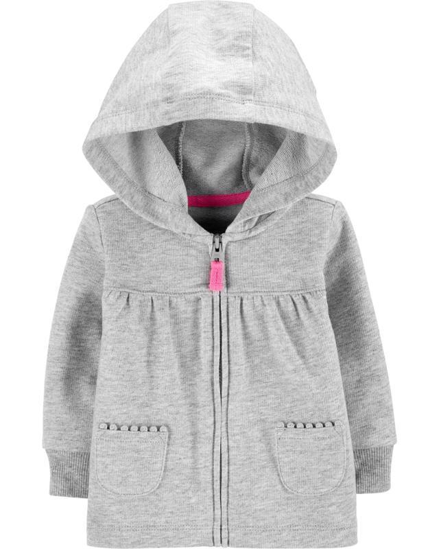 Mikina na zips s kapucňou Gray dievča 9m