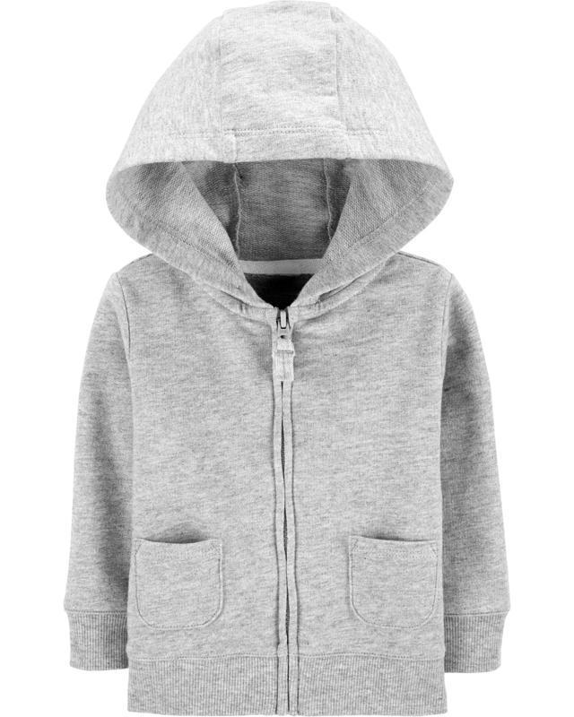 Mikina na zips s kapucňou Gray chlapec 6m