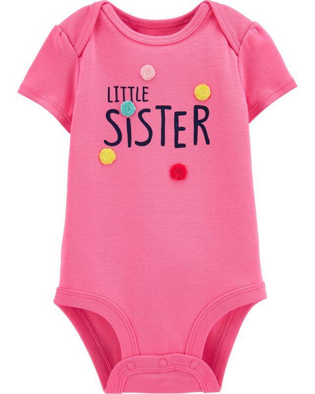 Body krátky rukáv Little Sister dievča 18m