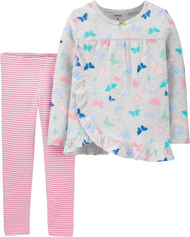 CARTER'S Set 2dielny tričko, legíny Butterfly dievča 9 m /veľ. 74, veľ. 74