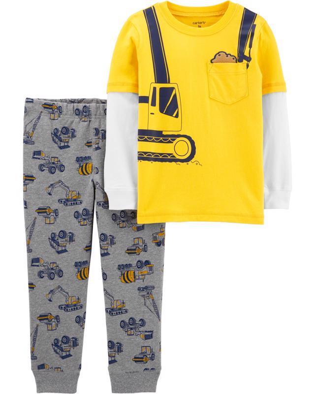 CARTER'S Set 2dielny tričko, nohavice Construction chlapec 9 m /veľ. 74
