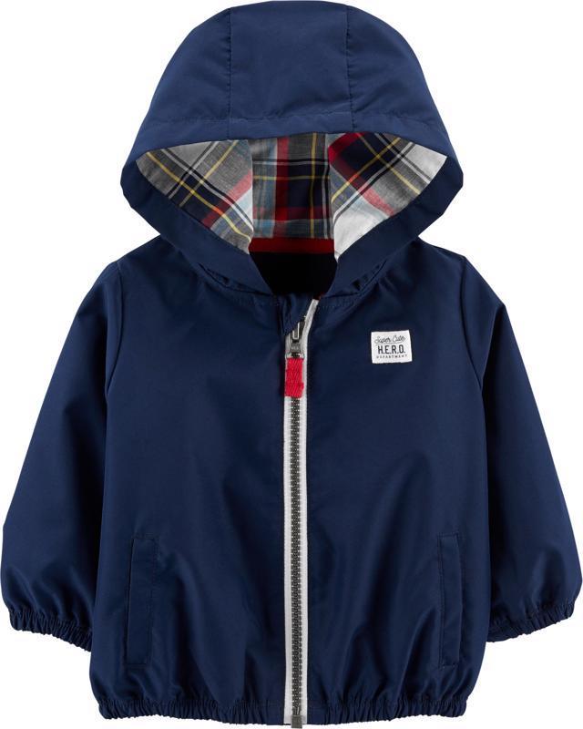 Bunda na zips s kapucňou Pattern chlapec 12m