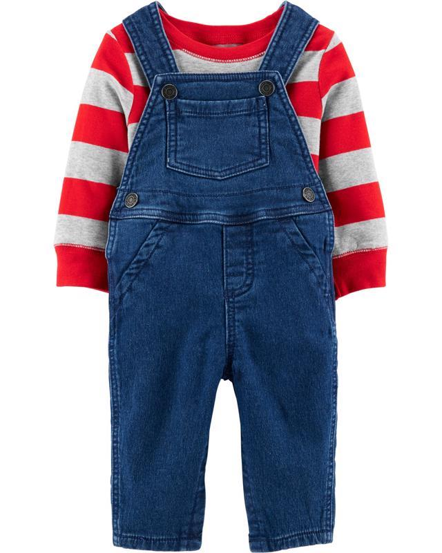 CARTER'S Set 2dielny mikina, nohavice na traky Strips chlapec 3 m /veľ. 62