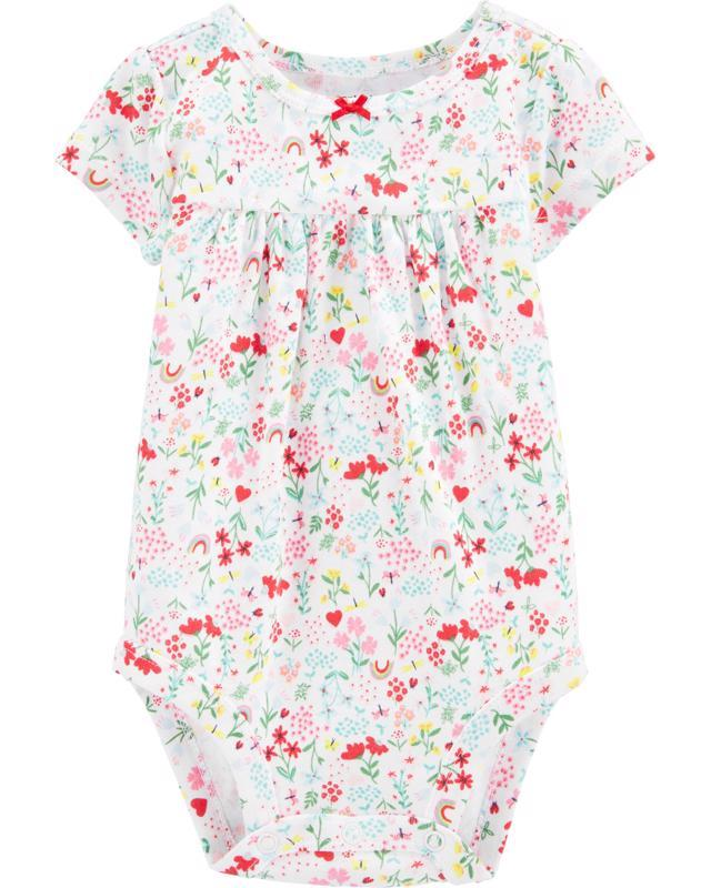 Body krátky rukáv Floral dievča 12m