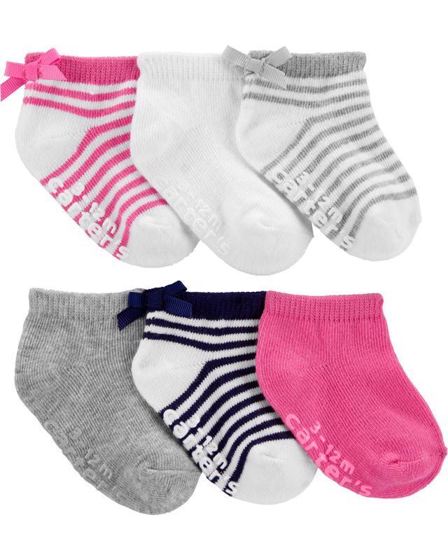 Ponožky Strips dievča LBB 6ks, 3-12m