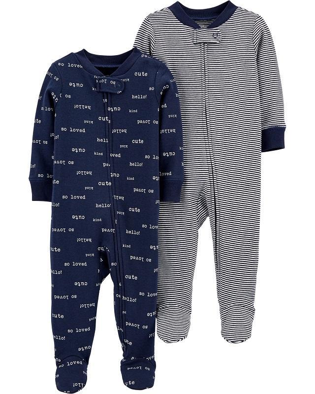 CARTER'S Overal na zip Sleep&Plays Navy chlapec LBB 2 ks PRE/ veľ. 46,  V001229