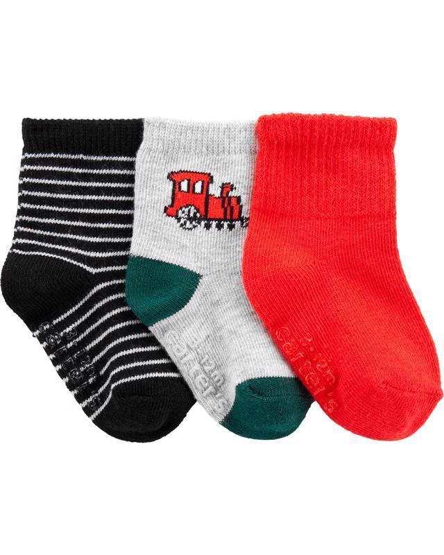 Ponožky 3 ks mix chlapec 6-9m