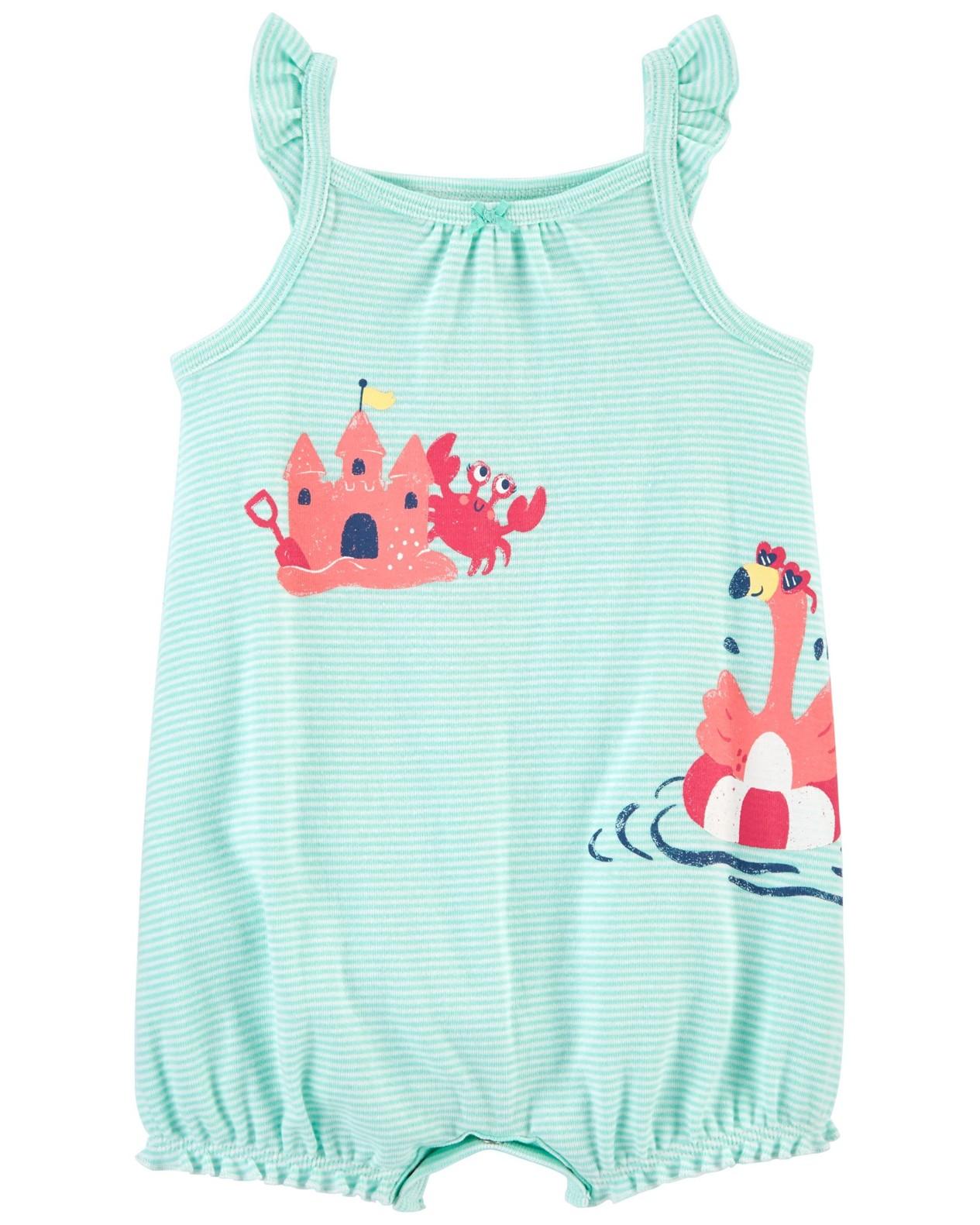 CARTER'S Opaľovačky Flamingo Stripe dievča NB, veľ. 56