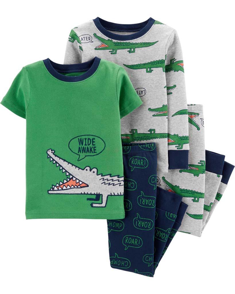 CARTER'S Pyžamo krátky a dlhý rukáv Aligator chlapec 2ks 24m