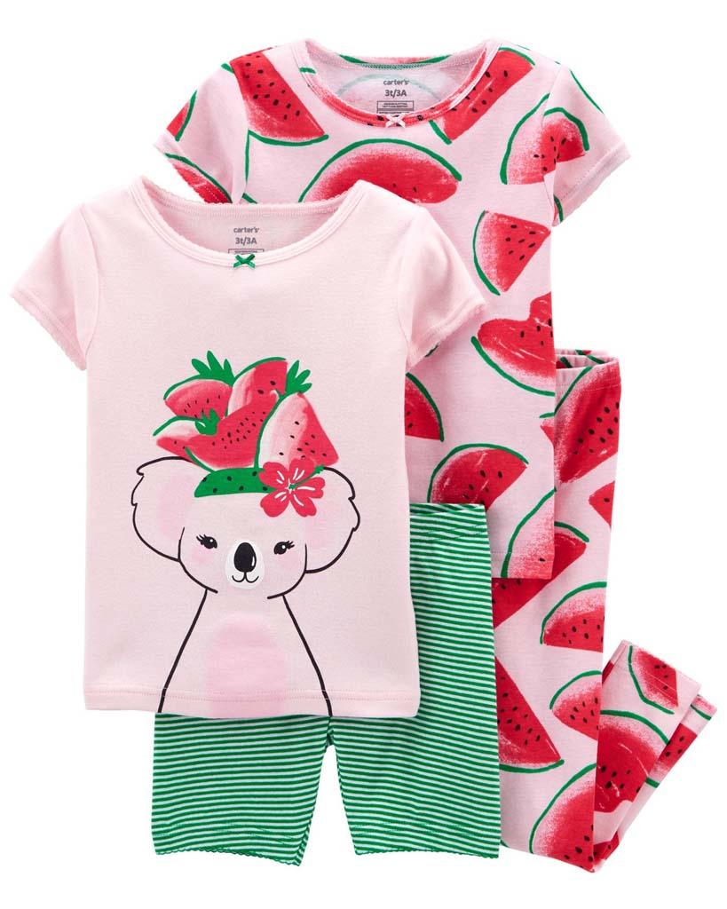 CARTER'S Pyžamo dlhé a krátke nohavice, krátky rukáv 2ks Watermelon dievča 12m