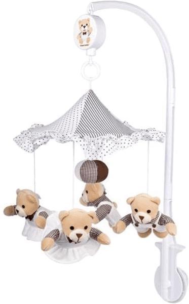 CANPOL BABIES Plyšový hudobný kolotoč béžové medvedíky