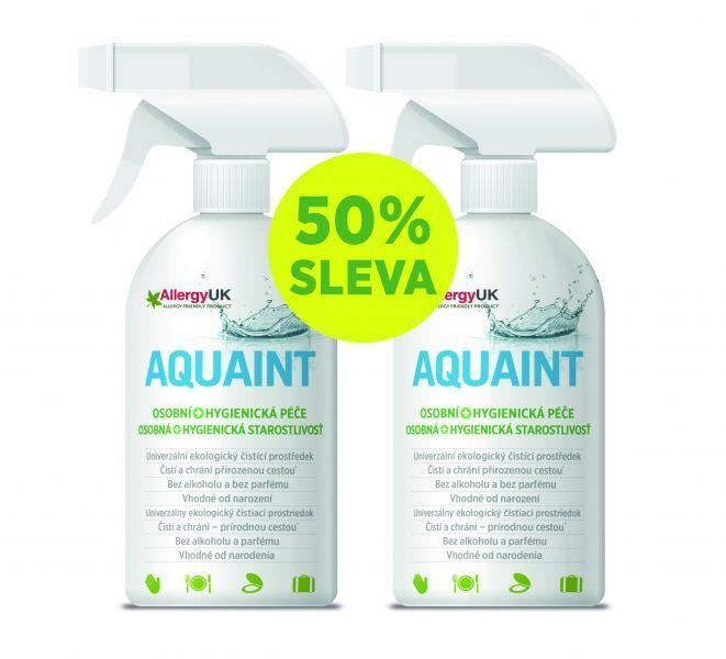 AQUAINT 100% ekologická čistiaca voda 500 ml + 500 ml gratis,  V001100