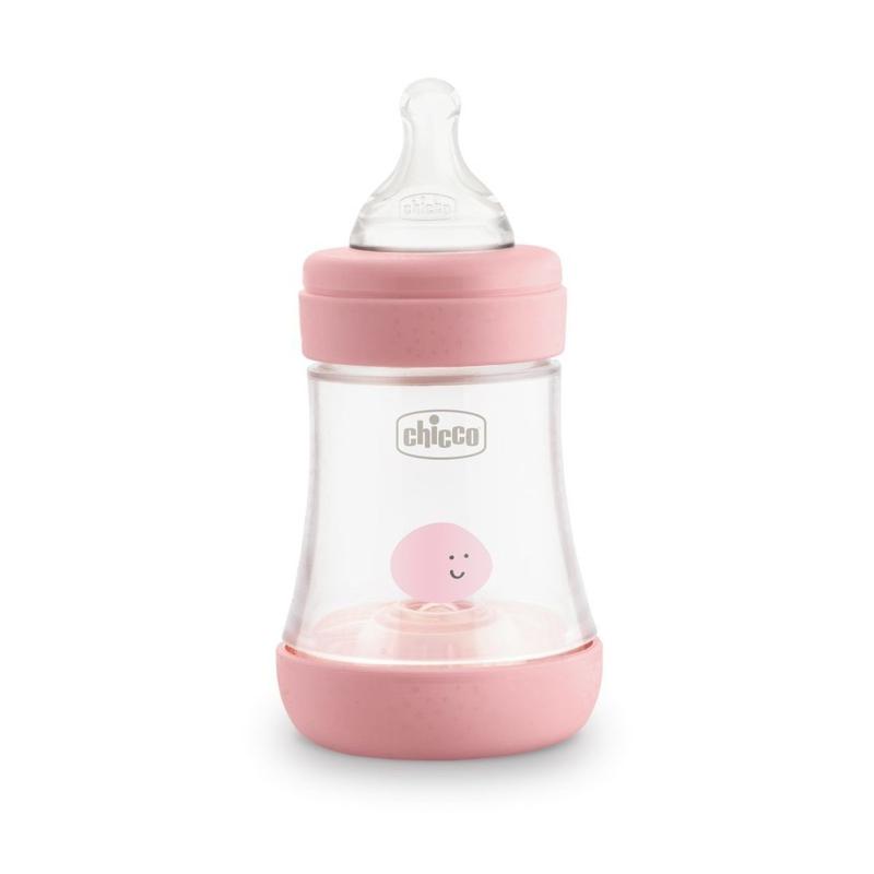 CHICCO Fľaša dojčenská Perfect 5 silikón, 150 ml dievča,  V000926