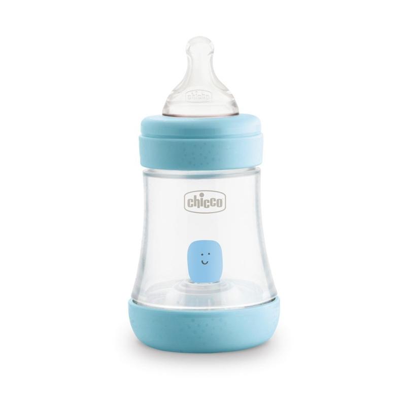 CHICCO Fľaša dojčenská Perfect 5 silikón, 150 ml chlapec,  V000926