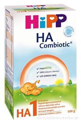 Mlieko dojčenské hypoalergénne HA 1 Combiotik 500g Hipp