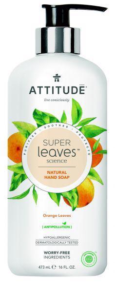 ATTITUDE Prírodné mydlo Super leaves detoxikačné - pomarančové listy 473 ml