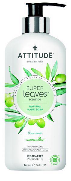 ATTITUDE Prírodné mydlo Super leaves detoxikačné - olivové listy 473 ml