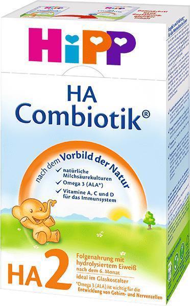 Mlieko dojčenské hypoalergénne HA 2 Combiotik 500g Hipp