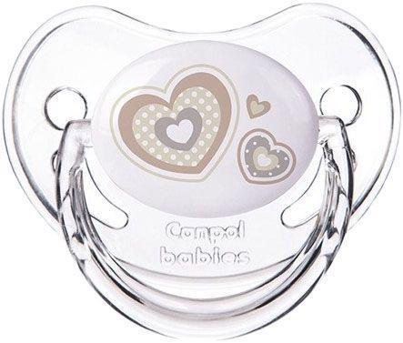 Cumlík silikónový anatomický 6-18m Newborn Baby - béžová