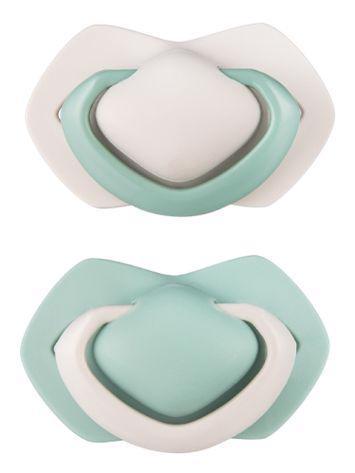 CANPOL BABIES Set symetrických silikónových cumlíkov 0-6 m Pure Color zelený