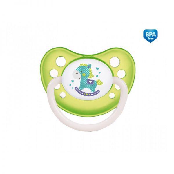 CANPOL BABIES Cumlík kaučukový anatomický 0-6m TOYS - zelená