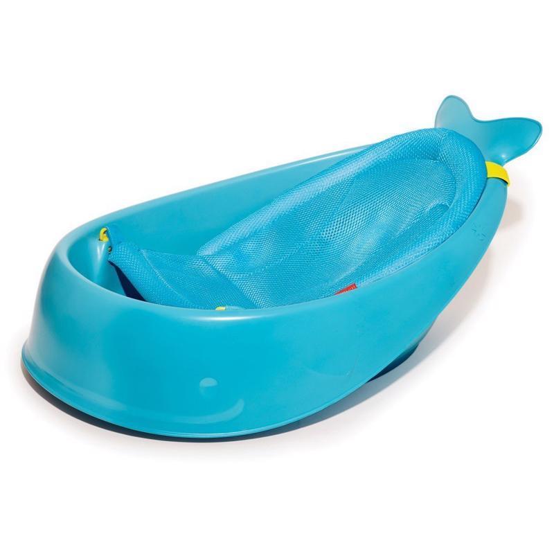 Vanička s ergonomickou podložkou Moby 3 fázová modrá