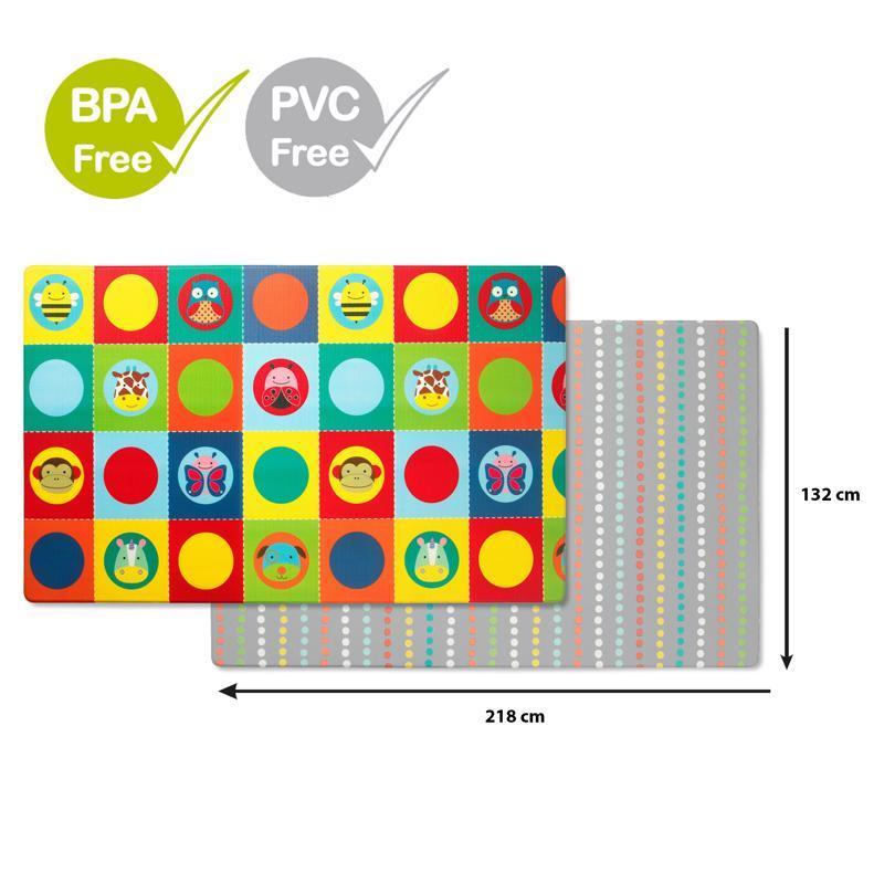 Podložka na hranie bez PVC a BPA  218x132cm Zoo 0m+