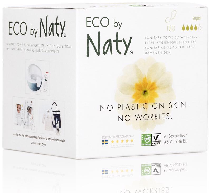 Vložky dámske hygienické s krídelkami Super 13ks Naty Nature Babycare