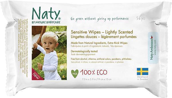 Obrúsky vlhčené parfumované Sensitive Eco 56ks Naty Nature Babycare