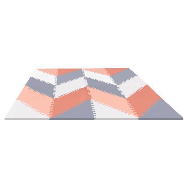 Puzzle penové šedo-oranžové 72ks, 10m+