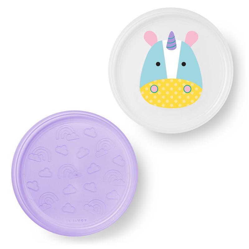 Zoo tanieriky protišmykové 2 kusy - Jednorožec 6m+