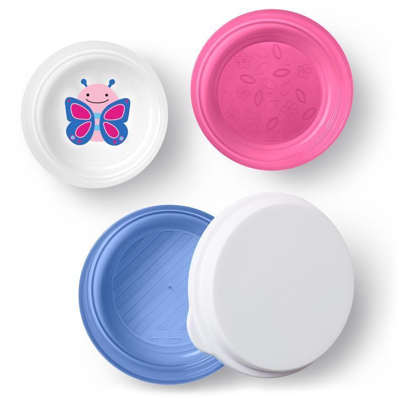 Zoo misky protišmykové 3 kusy + vrchnák - Motýľ 6m+