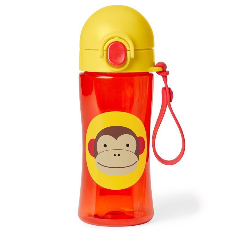 Zoo Fľaša so silikónovým náustkom a uzáverom Opička 3+