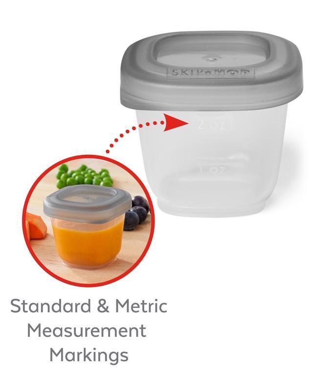 SKIP HOP Držiak do chladničky s označovačom a stohovateľnými nádobkami na jedlo 8 x 60ml