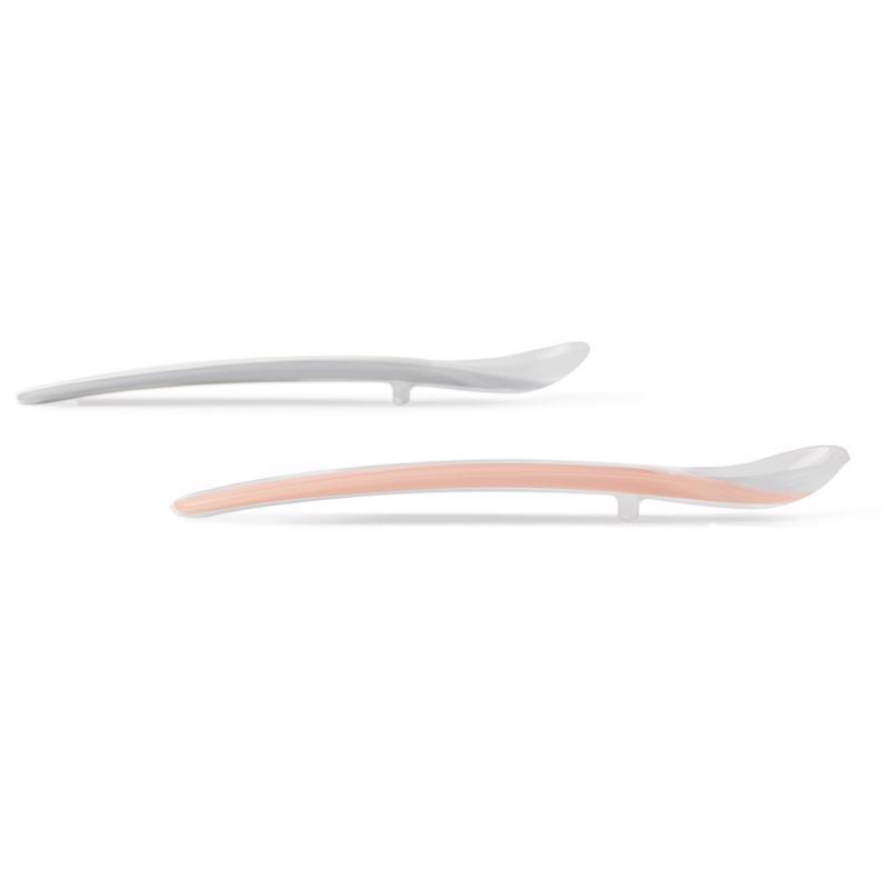 SKIP HOP Lyžičky silikónové Easy Feed Grey, Coral 2 ks, 6 m+