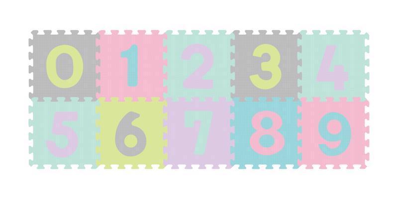 Puzzle penové čísla 10 ks, 6m+