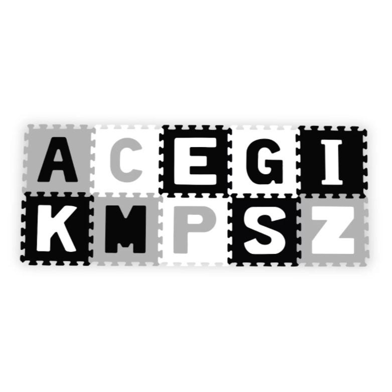 BABYONO Pěnové puzzle Abeceda 10 ks, 6 m+