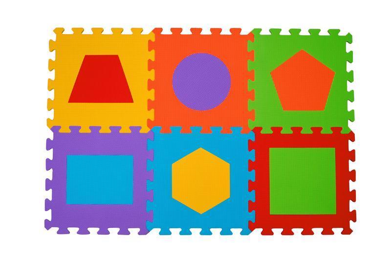 Puzzle penové tvary 6ks, 6m+
