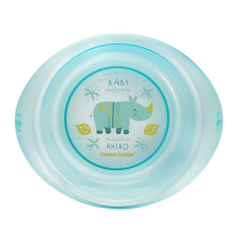 CANPOL BABIES Plastová miska AFRIKA 320 ml - modrá