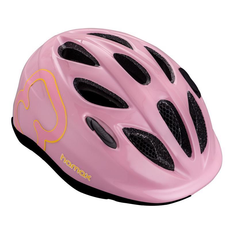 HAMAX Cyklohelma Skydive Pink/Yellow 45-50,  V001368