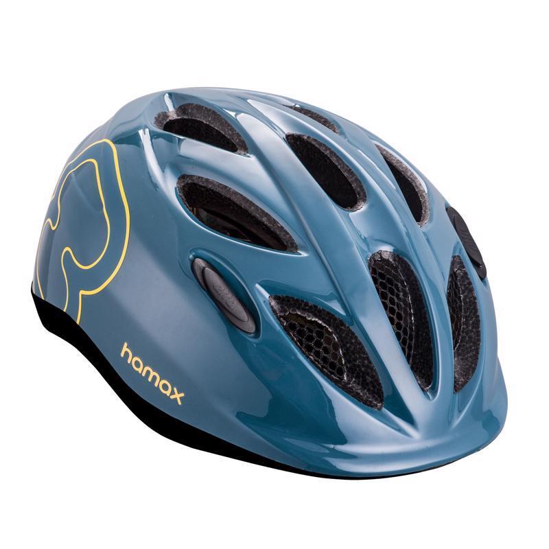 HAMAX Cyklohelma Skydive Blue/Yellow 50-55,  V001369