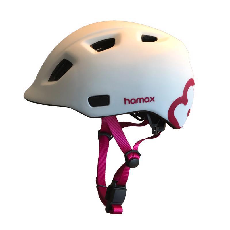 HAMAX Cyklohelma Thundercap White/Pink 47-52,  V001371