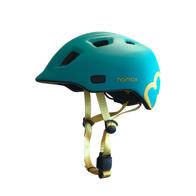 HAMAX Cyklohelma Thundercap Turquoise/Yellow 47-52,  V001371