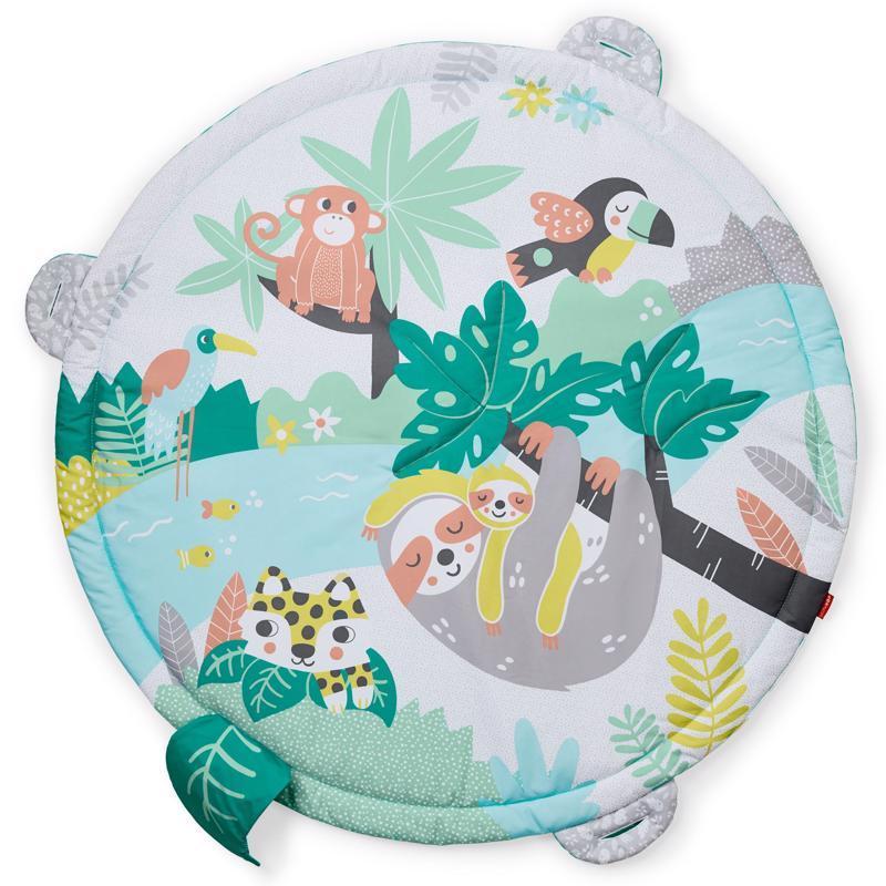 SKIP HOP Deka na hranie s bielym šumom, tlkotom srdca Tropical Paradise 0m+