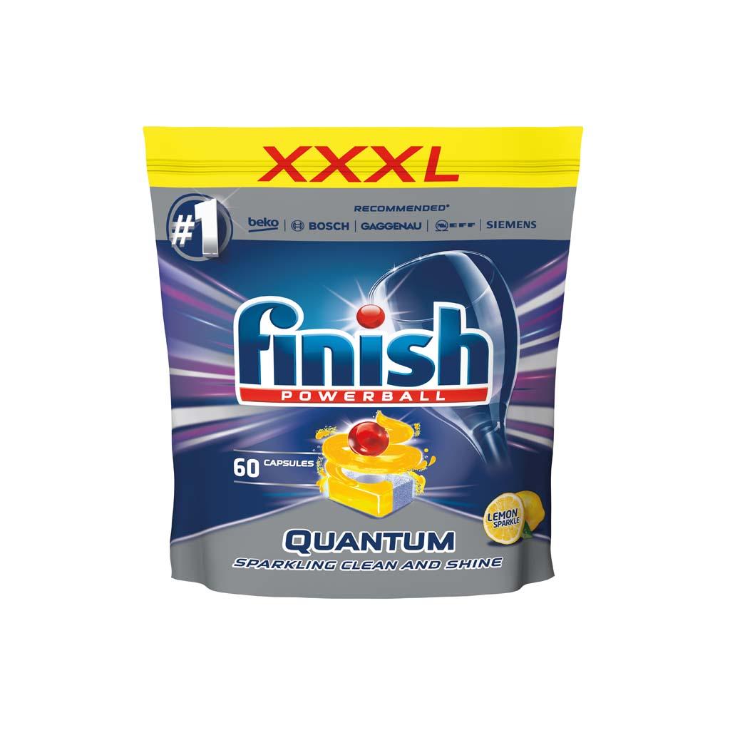 FINISH Quantum Max Lemon 60 ks - tablety do umývačky riadu