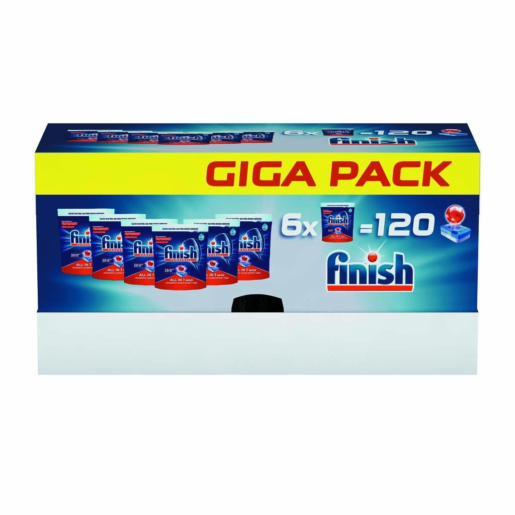 FINISH All in One Max 120 ks – tablety do umývačky riadu